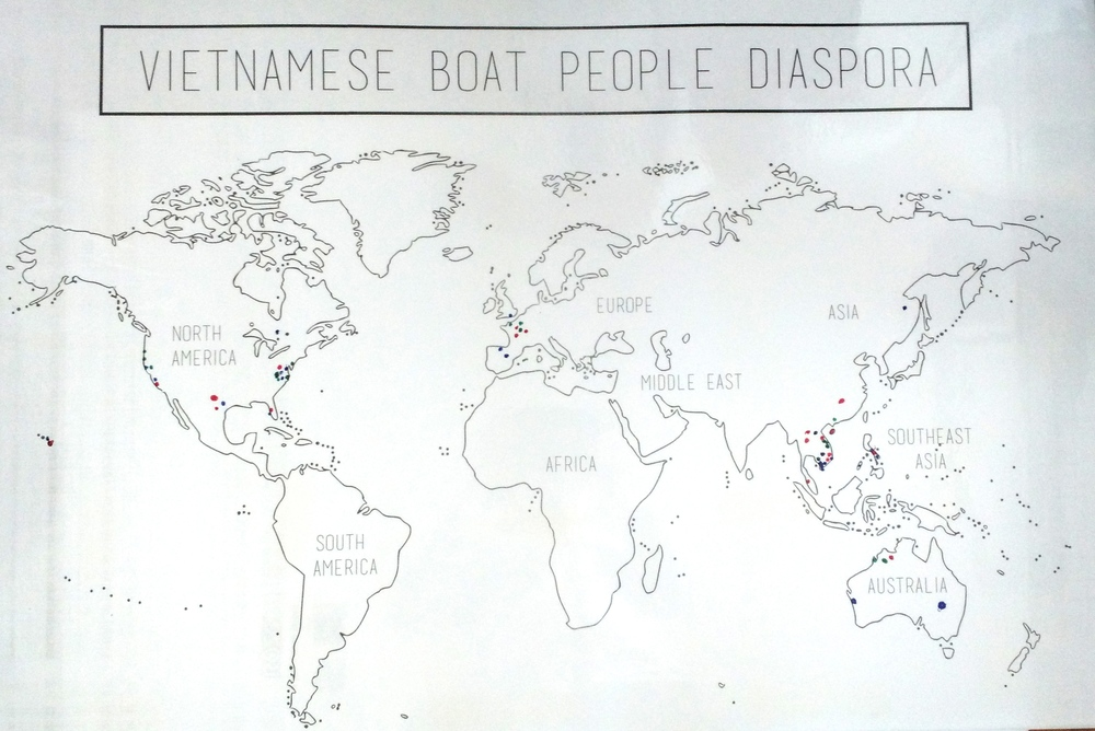 The Vietnamese Boat People Diaspora (World Map)