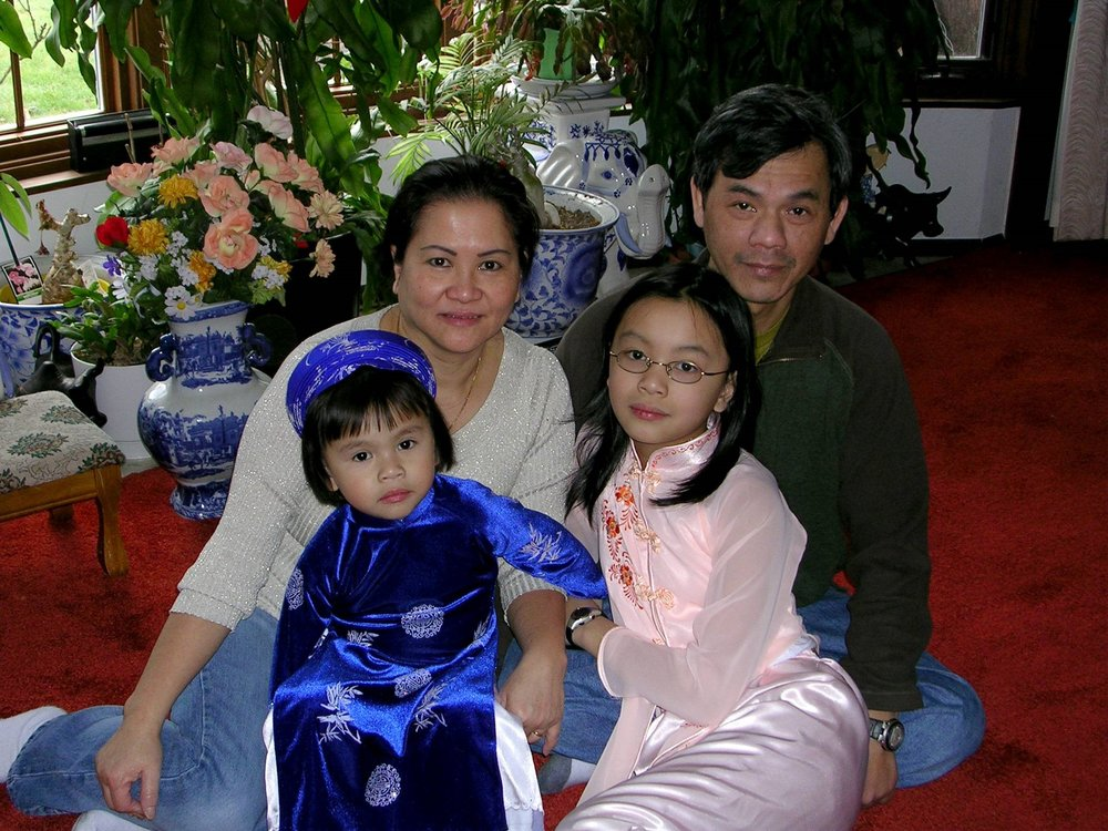My family celebrating Tết, 2005.