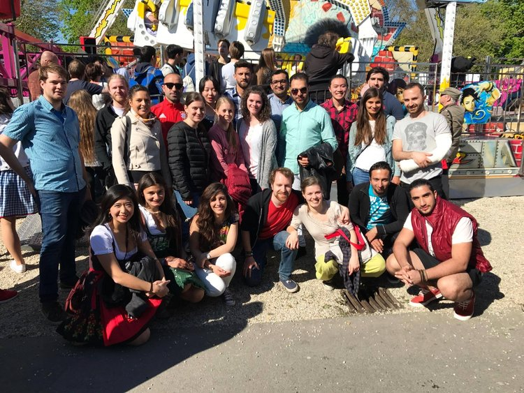 Frühlingsfest with Syrian refugees (April 2017). [Ms. Chang is pictured on the bottom left]