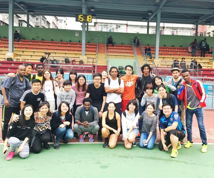 Soccer match with HK refugees (March 2017).