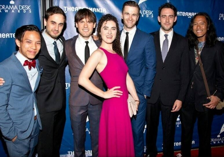 The Lobbyists and Raymond Sicam III at the 2016 Drama Desk Awards.