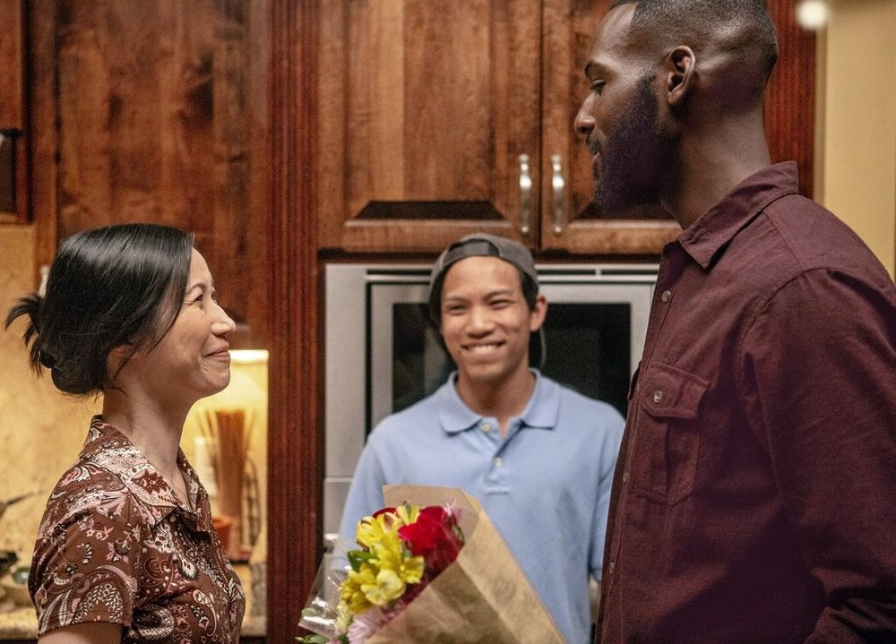 Elyse Dinh, Tony Aidan Vo and Kofi Siriboe pictured in Episode 305.
