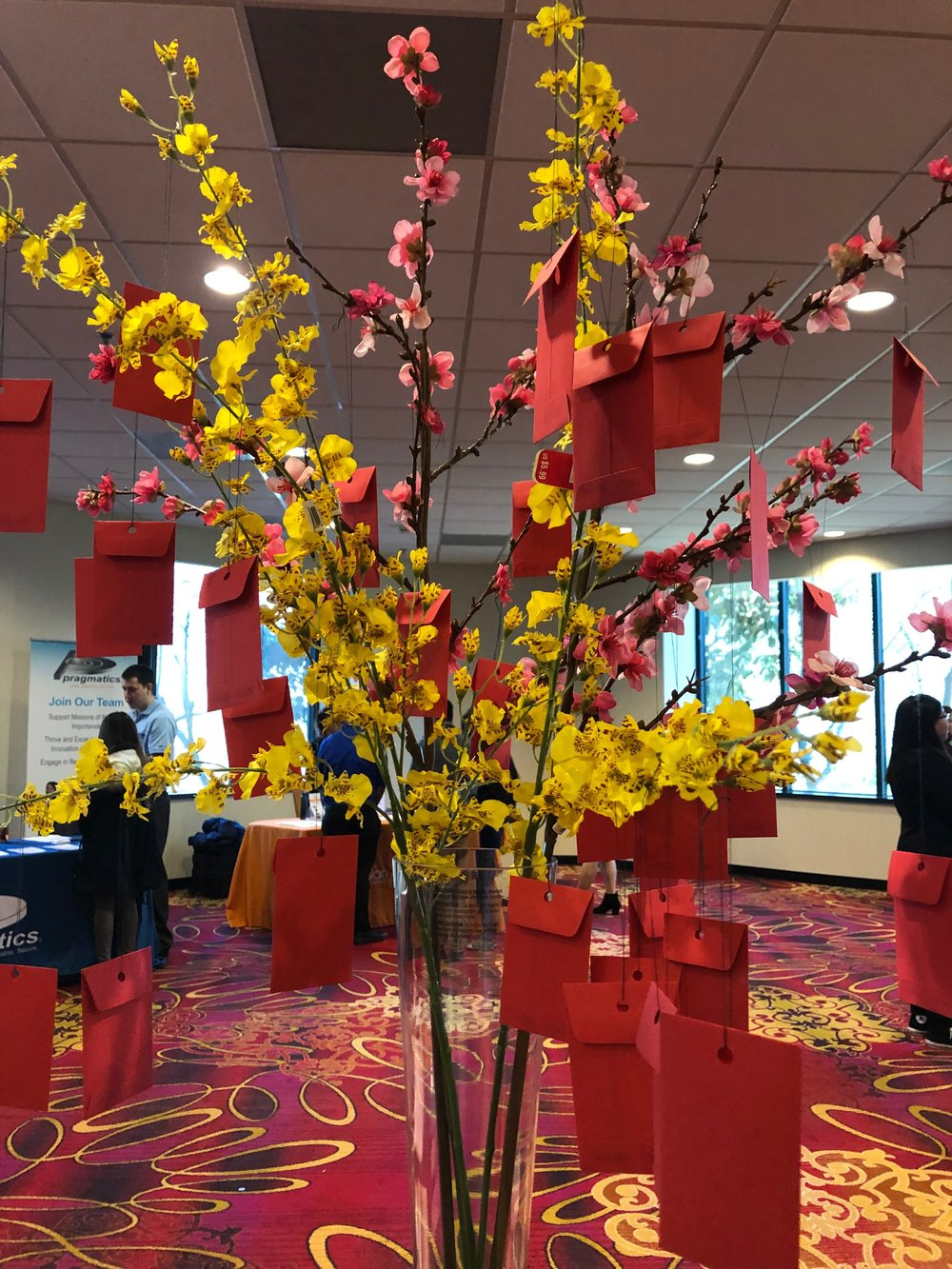 Our hilarious wishing tree with nearly 50 wishes! (Courtesy: the awesome suppliers at Michaels).