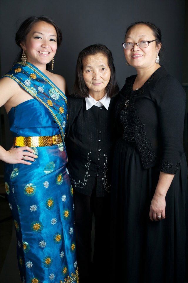 Monica with her mother and grandma, who she credits much of her inspiration to.