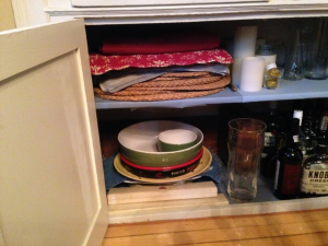 cabinet Before - Piles