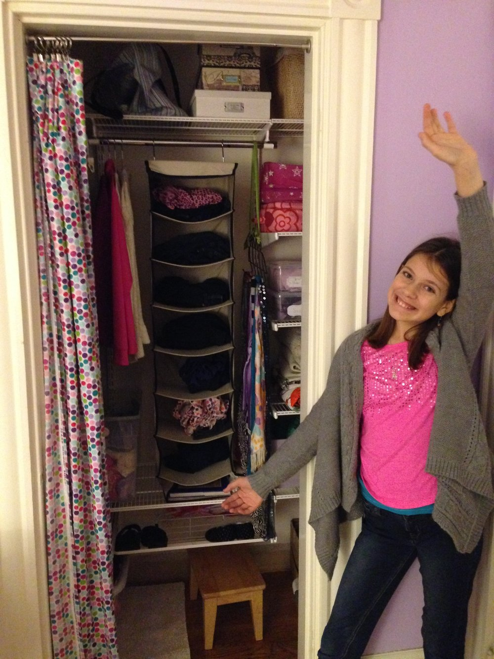 My girl and her updated closet from several years ago (Preteen )