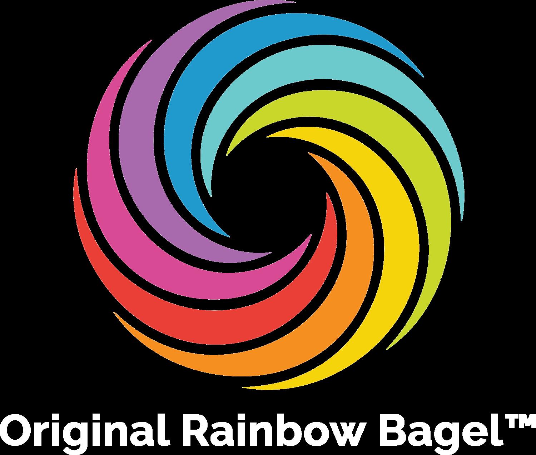 original rainbow bagels bagel art the bagel store brooklyn