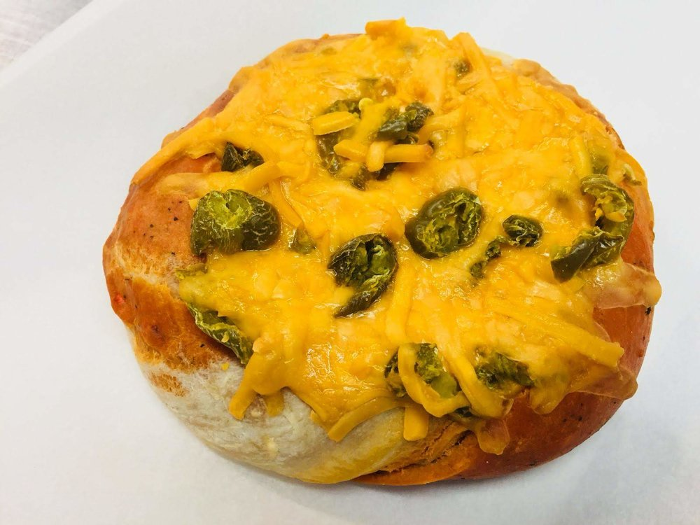 Jalapeno Cheddar Cheese Cragel $3.95
