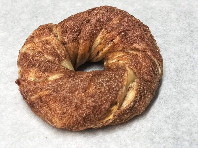 Maple Bacon Cinnamon Cragel $3.95    https://www.thebagelstoreonline.com/press-1/2016/8/10/meet-the-cragel-new-yorks-latest-food-hybrid