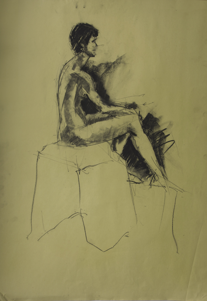 Seated Nude #9  2012 | 59 x 84cm Charcoal Signed on front Email me for sales enquiry