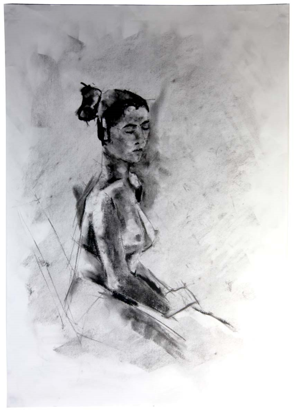 Seated Nude #2 2011 | 59 x 84cm Charcoal Buy this artwork