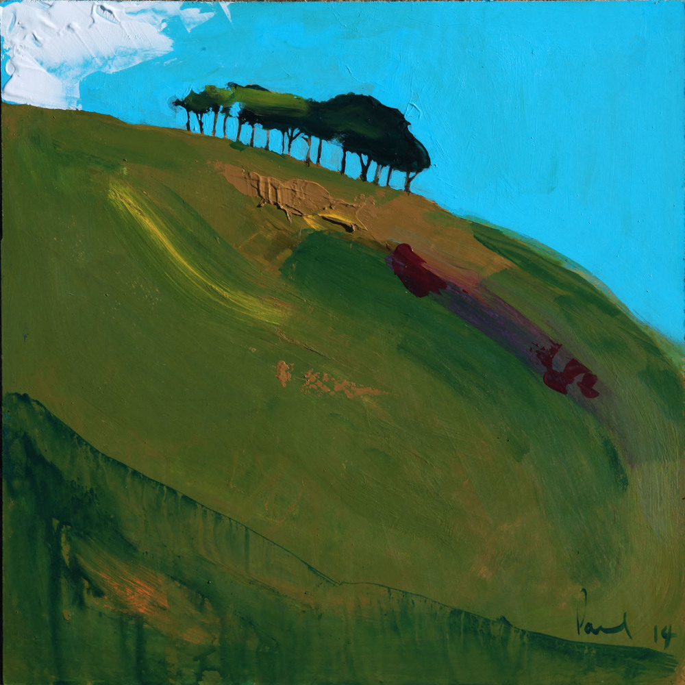 Copper Hill, North Chideock  2014 | 33.3 x 33.3 x .5cm Acrylic on board Signed  SOLD