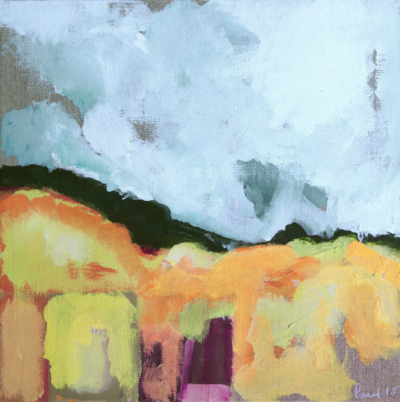 Dune  2015 | 30 x 30 x .5cm Acrylic on canvas board Signed  SOLD