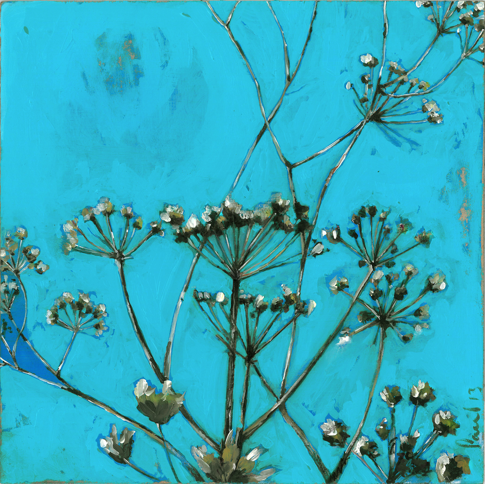 Wild Hogweed 2013 | 33 x 33 x .5 Acrylic on board Signed SOLD