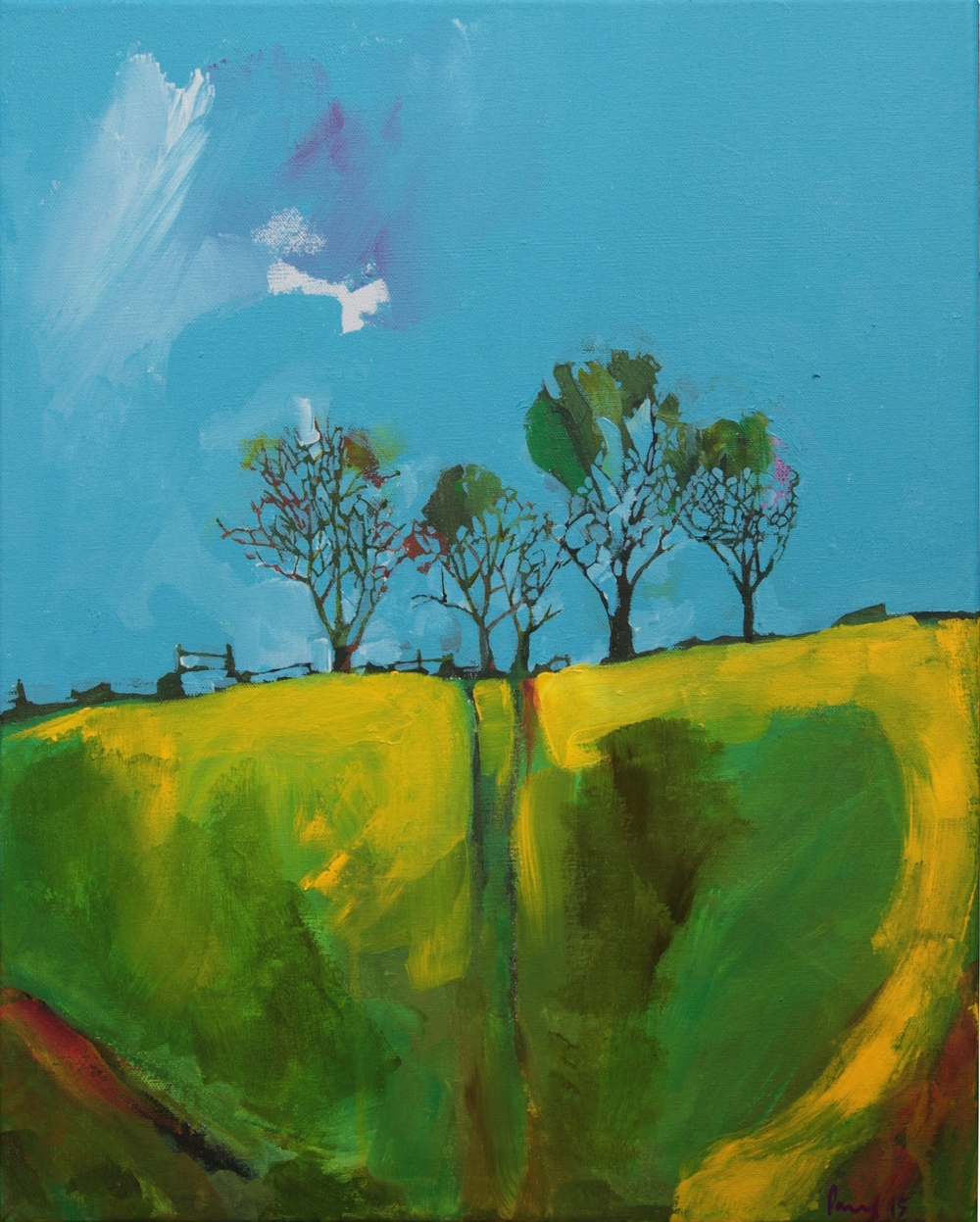 Treeline  2015 | 51 x 40.5 x 1.5cm Acrylic on canvas Signed  SOLD