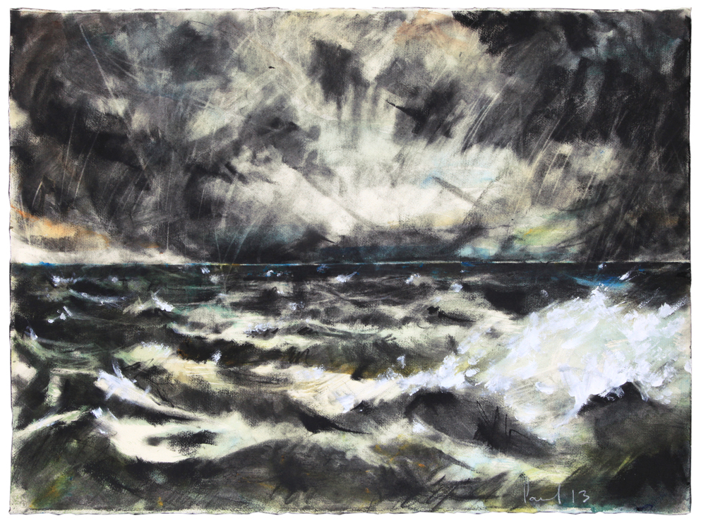 Seascape 2013 | 76.4 x 56.5cm Charcoal & Watercolour Signed £300 - Buy this artwork
