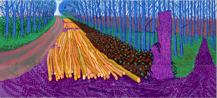 Winter Timber, David Hockney 2009