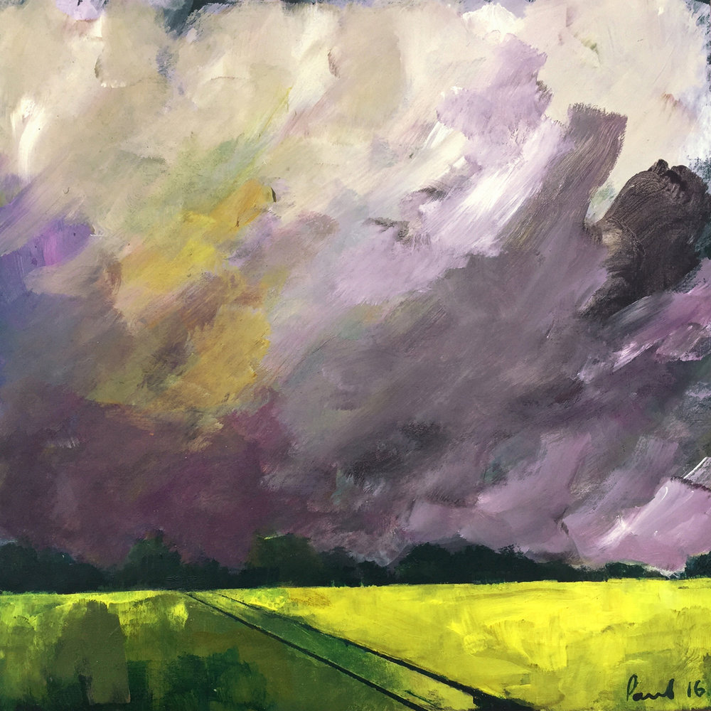 Storm 2016 | 30.5 x 30.5 x .6cm Acrylic on board Signed £390 - SOLD