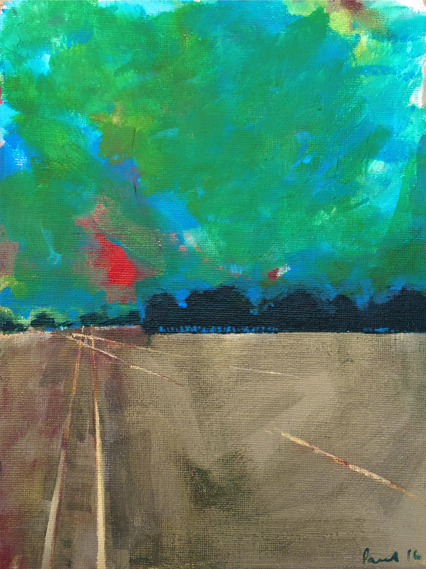 Field Study  2016 | 18 x 24 x .3 cm   Acrylic on canvas board   Signed on front   SOLD