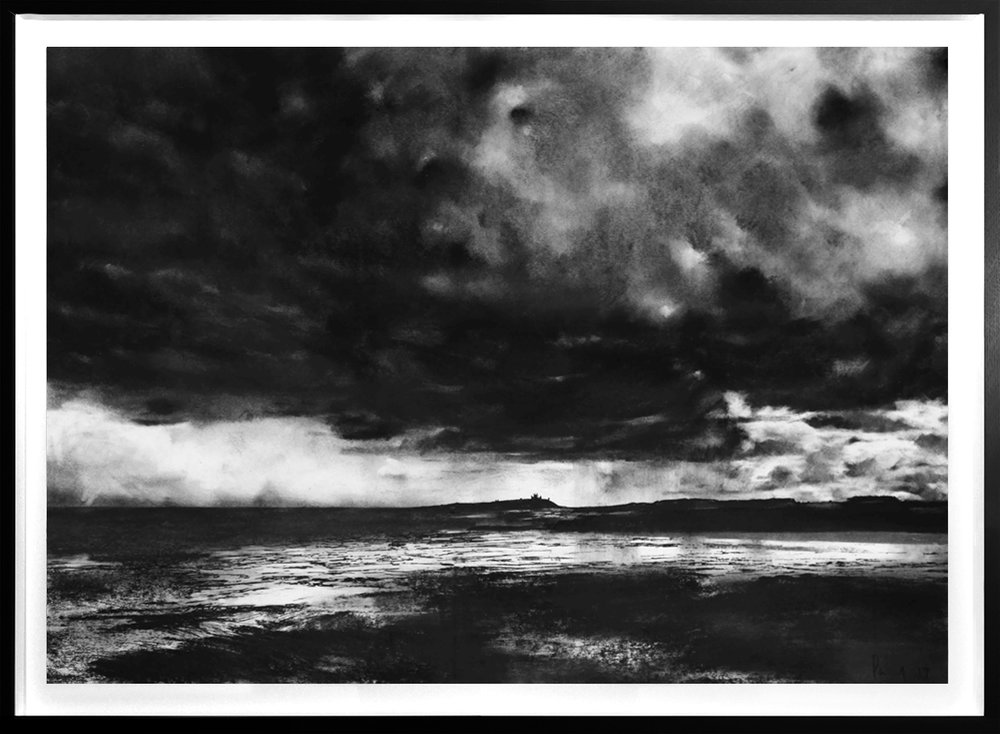 Dunstanburgh Castle  2019 | 84 x 60cm Charcoal & compressed charcoal Signed on front POA