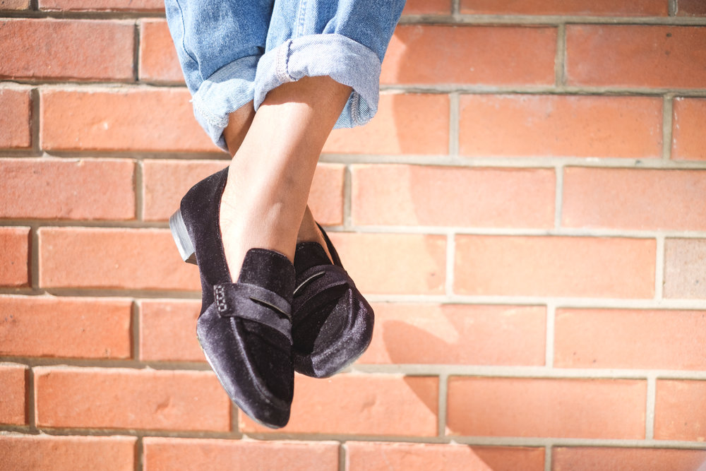 Suede Loafers- Street style