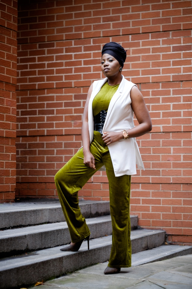 Outfit Details - Jumpsuit&Sleevless Vest-E5PShoes- NewlookBelt- Ebay