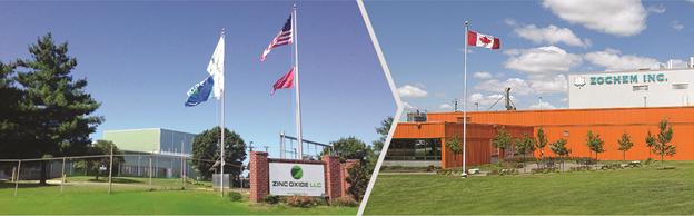 Zinc Oxide, LLC, Dickson, TN & Zochem, Inc., Brampton, Ontario (image property of Zinc Oxide, LLC