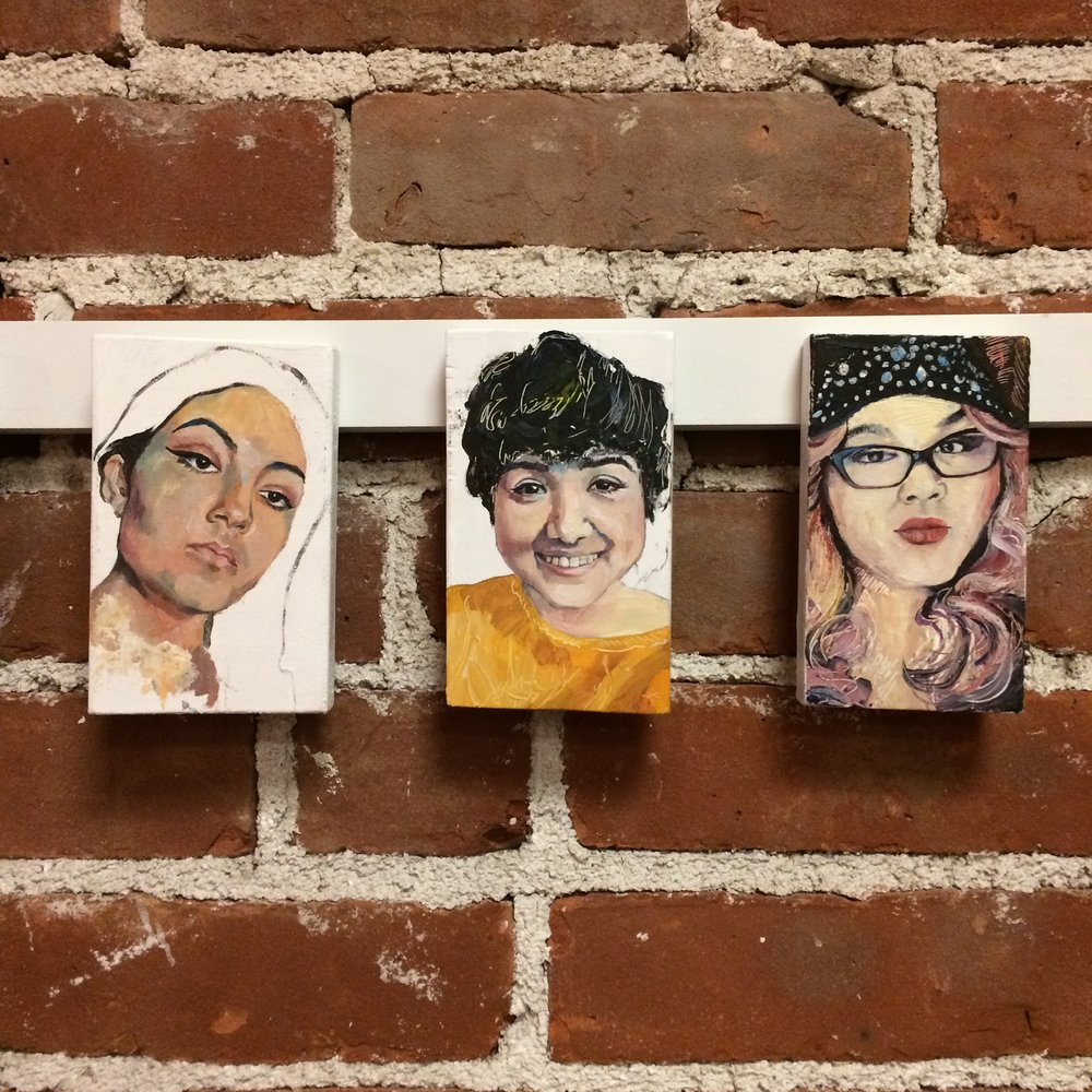 A trio of portraits from the series  #Latina: Reclaiming the Latina Tag , on view at the  Arlington Art Lounge . View more examples from the series  here .