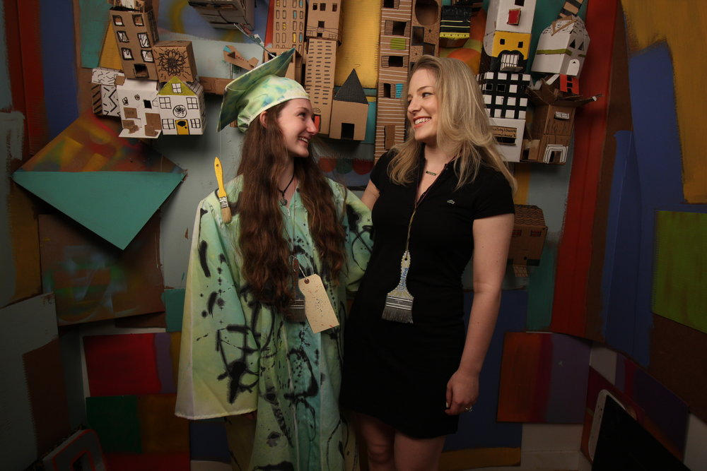 Rachel and her hand-painted RAW graduation robes. How clever is that brush tassel?!