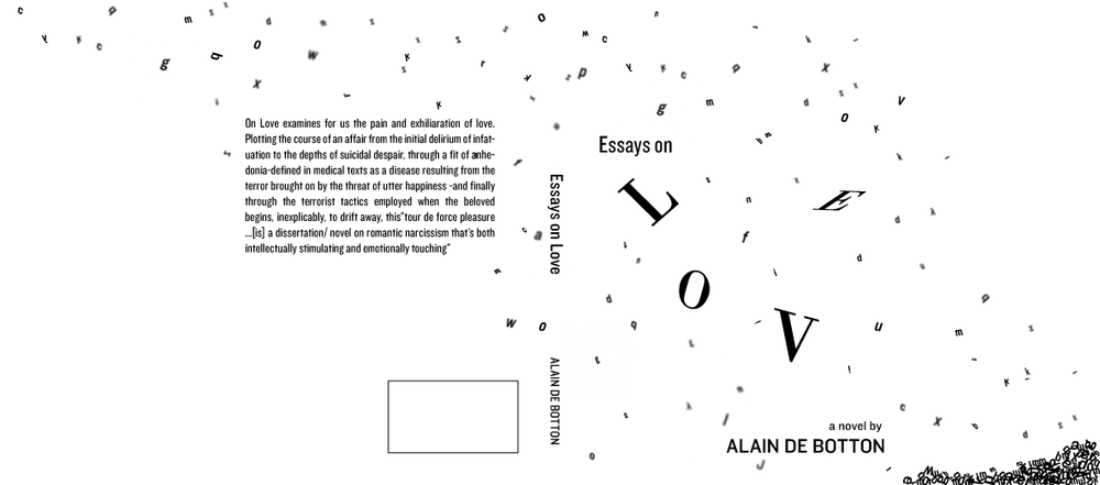 Front and back cover with inner flaps redesign of  Essays on Love.