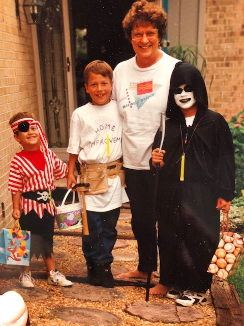 Bettye + Boys (Bettye was always the first to get a Halloween visit!)