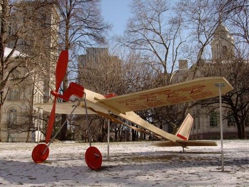 Art Domantay   The Land That Time Forgot  Balsa wood, aluminum 16' x 16' x 6'