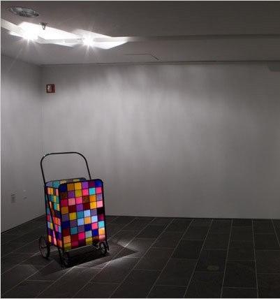"""Kori Newkirk   Untitled  Steel, plexiglass 23"""" x 23"""" x 45"""" Photo Credit © New York Times"""