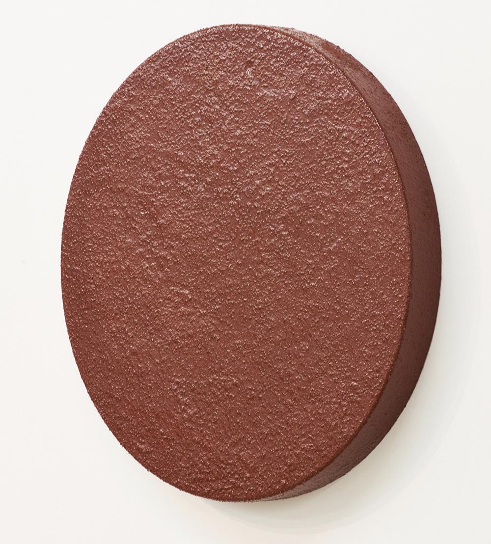 "Aria Dean   Forward Proxy 1.1  Clay, resin, wood 30"" (diameter) x 3 ""(height)"