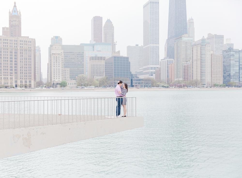 Downtown Chicago Engagement Photographer