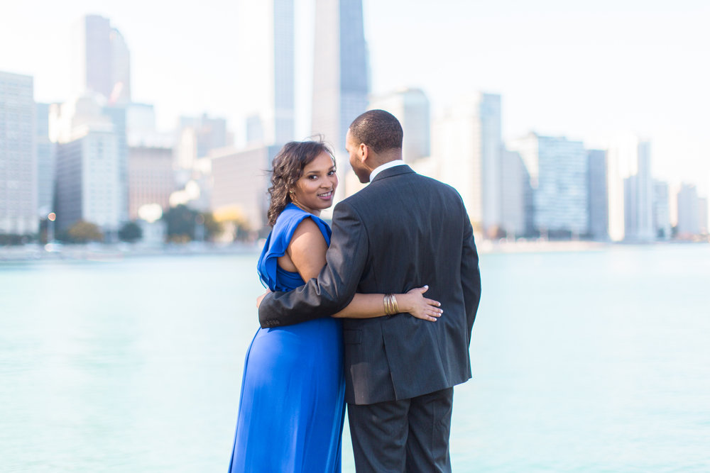 Bonphotage Chicago Skyline Engagement Photography