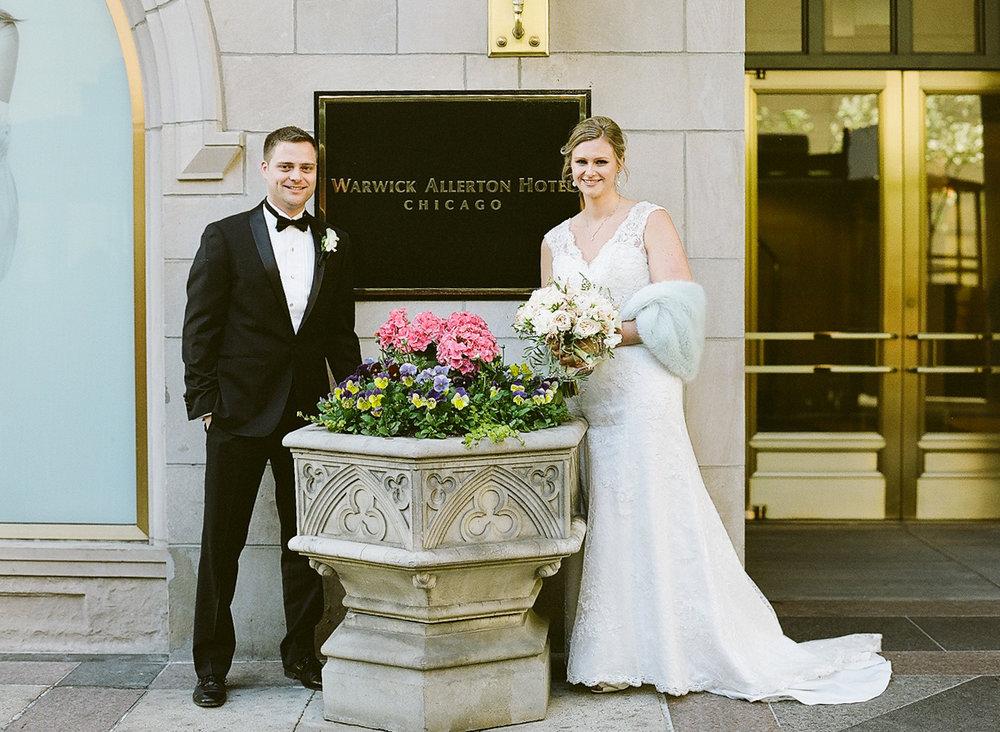 Chicago Fine Art Wedding Photography - Warwick Allerton Hotel Downtown