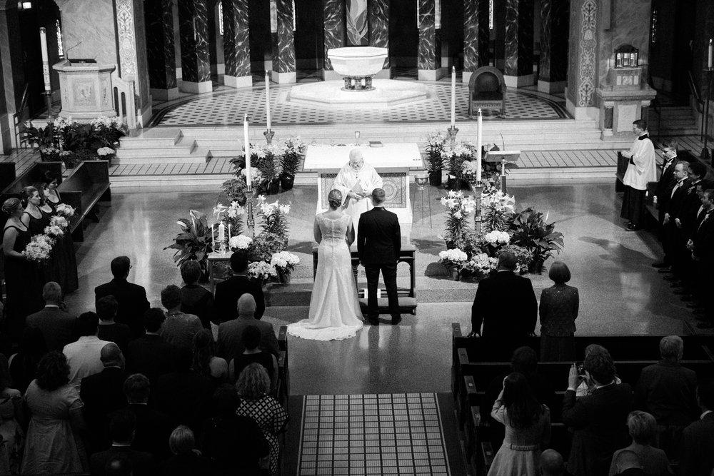 Chicago Fine Art Wedding Photography - St. Benedict's Church