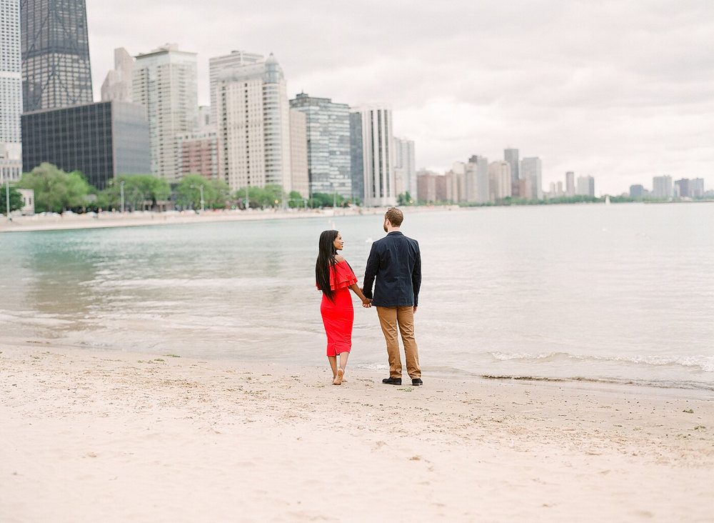 Chicago Fine Art Film Engagement Photography