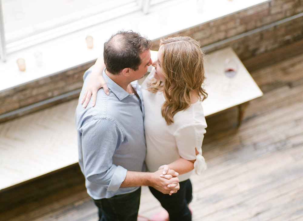 Chicago DL Loft Engagement Film Photographer