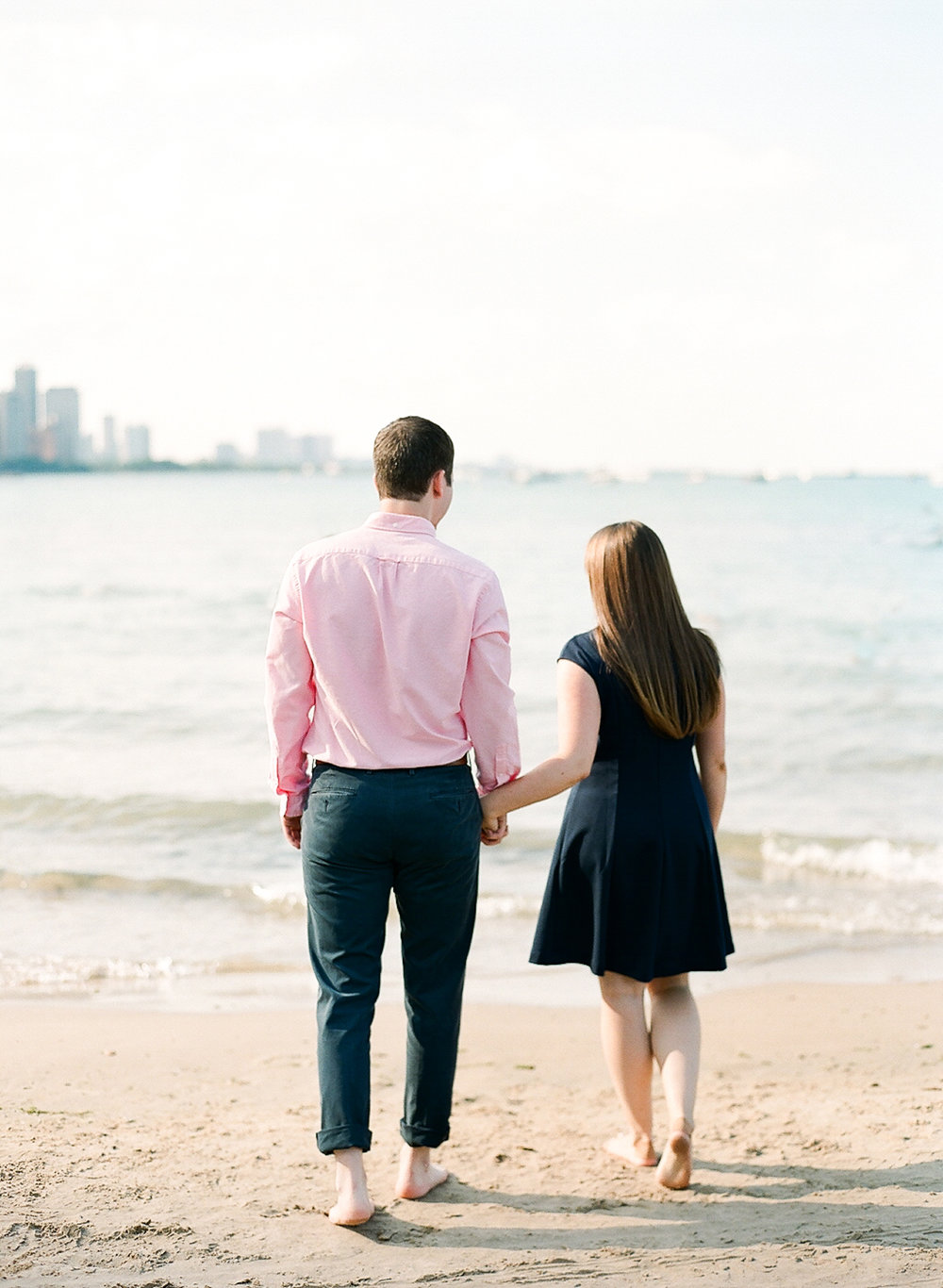 Bonphotage Chicago Fine Art Engagement Photography - Ohio Street Beach