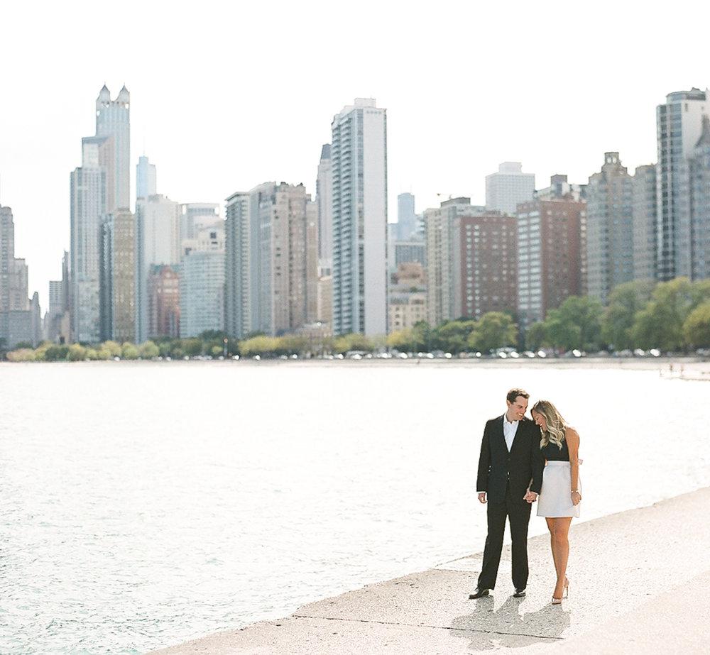 Bonphotage Chicago Fine Art Engagement Photography - North Avenue Beach Lincoln Park
