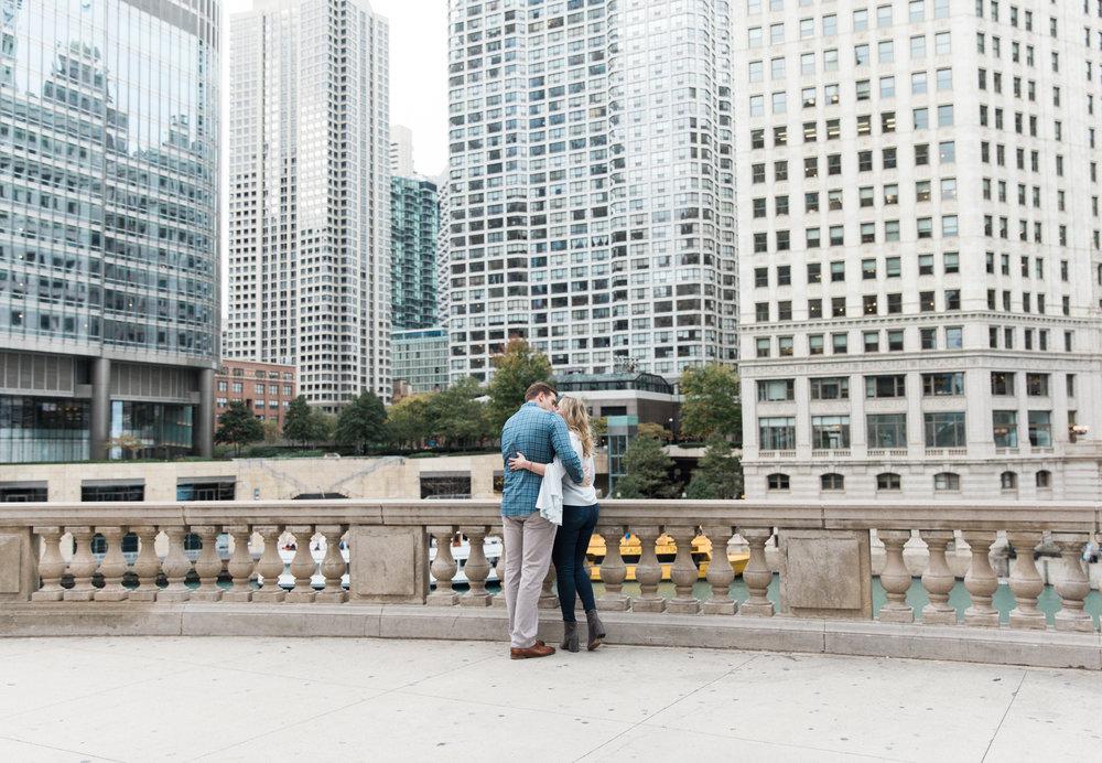 Bonphotage Fine Art Engagement Photography - Chicago Riverwalk
