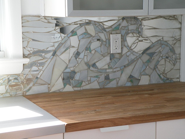 Back Splash in LBI Home Close-up