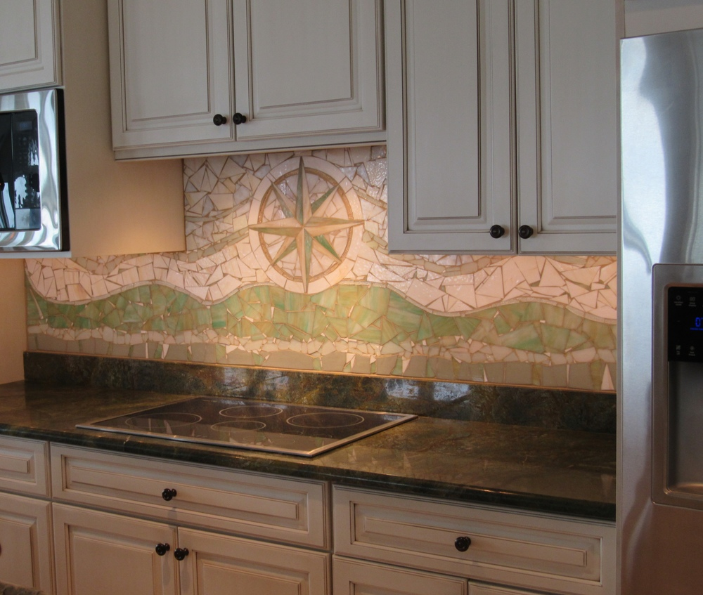 After - Custom kitchen backsplash