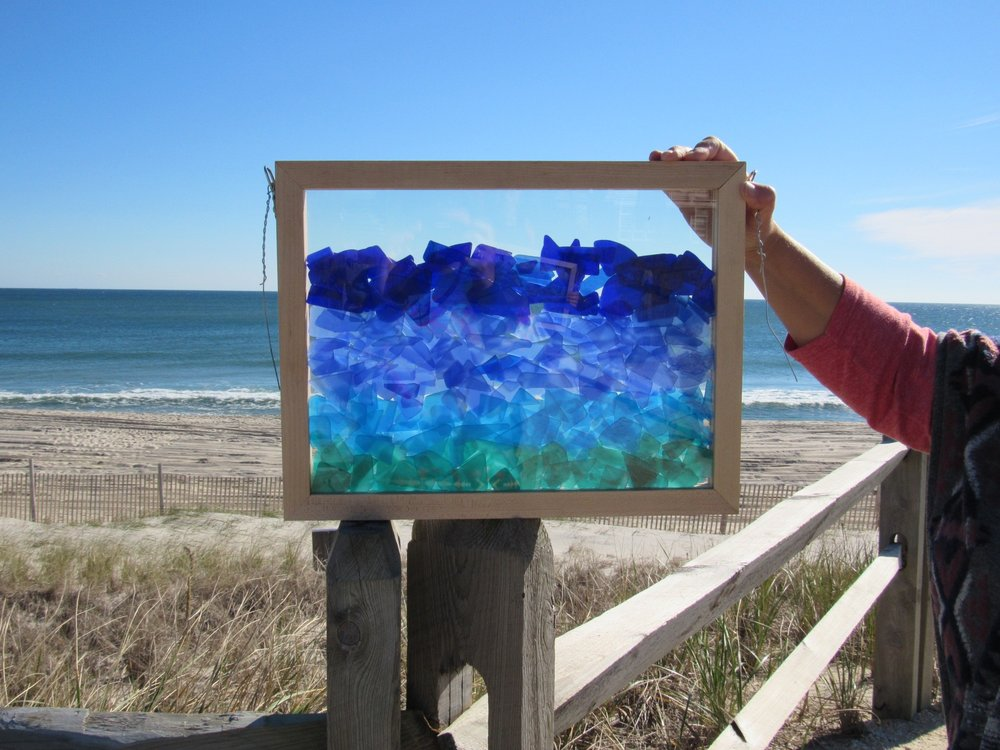Tumbled - New Works in Glass by Mary Tantillo Reception is Friday, November 25, 2016 from 10-6 Music, refreshments and local art for your heart! This is my new collection of about 30 works in glass. The pieces are landscapes and seascapes in transparent shadowboxes.