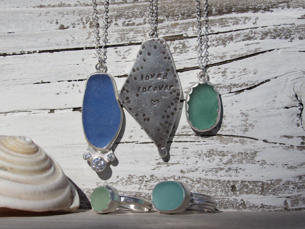Turn your seaglass into gorgeous jewelry at SwellColors Glass Studio, Long Beach Island, NJ