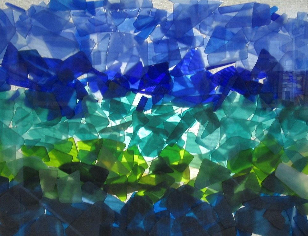 Sea Glass Inspired Seascapes.Tumbled.Kelp Forest. zoom 1.jpg