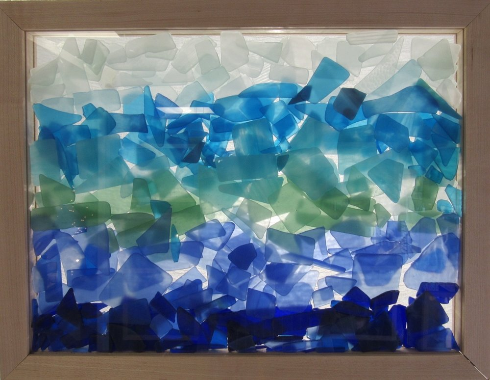 Sea Glass Inspired Seascape.Tumbled.Blue Ocean Depths.zoom 1.jpg