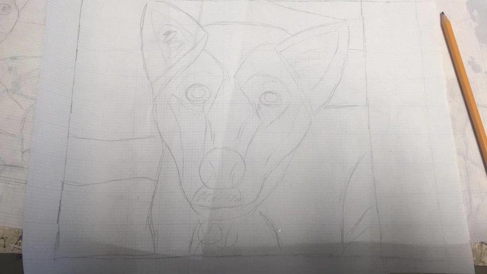 Custom Stained Glass Window.Pet Portrait 1.process 1.jpg